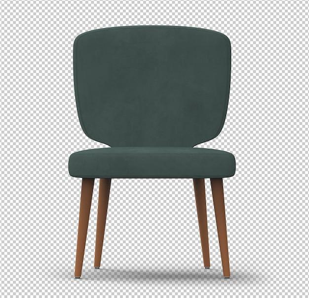 Chaise rétro 3d isolée