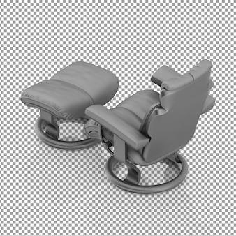 Chaise tv isométrique par derrière