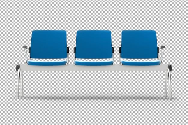 Chaises d'accueil 3d
