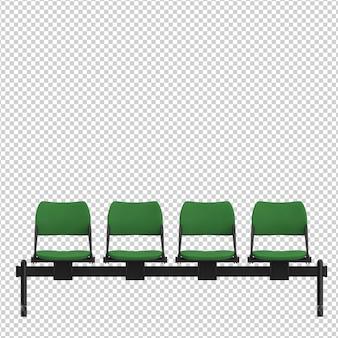 Chaises publiques isométriques