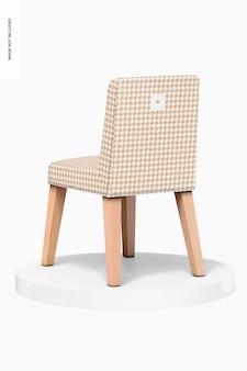 Chaises de salle à manger en cuir sur maquette de podium