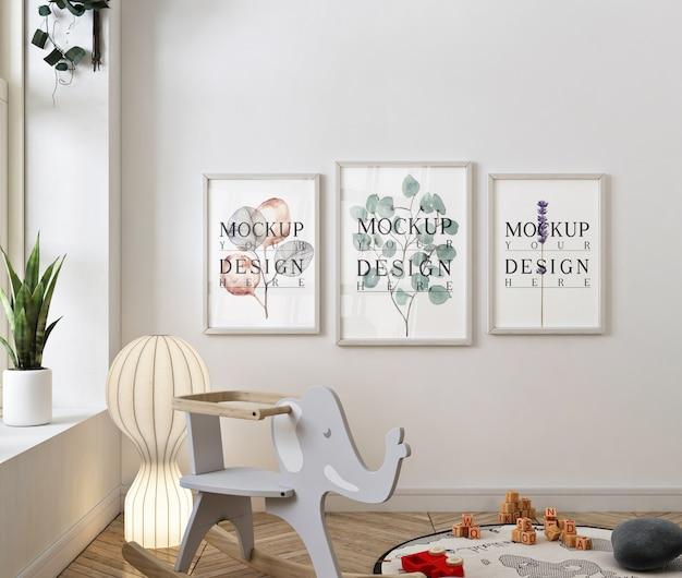 Chambre bébé classique avec maquette de cadre photo