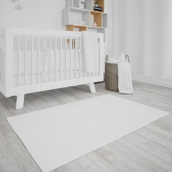 Chambre bébé avec lit bébé blanc