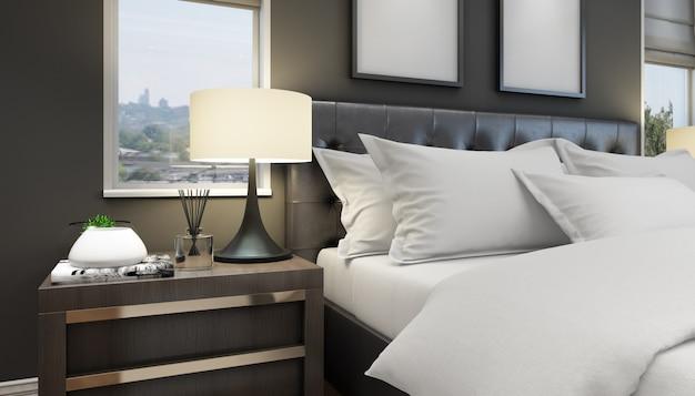 Chambre double moderne et lumineuse avec mobilier