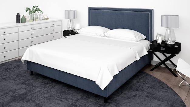 Chambre élégante ou chambre d'hôtel avec des meubles classiques