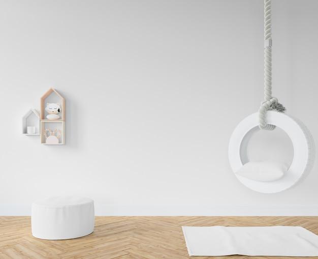 Chambre d'enfant avec balançoire blanche
