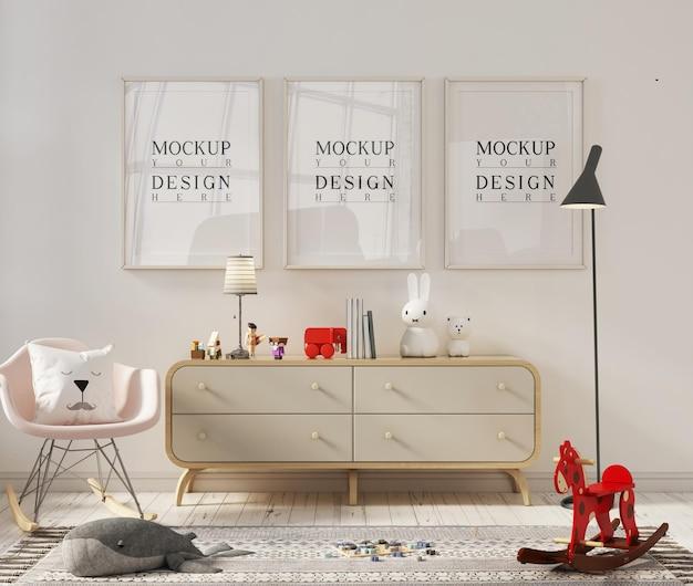 Chambre d'enfant avec cadre photo maquette