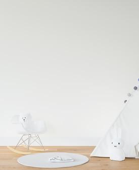 Chambre d'enfant avec tipi blanc