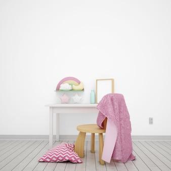 Chambre d'enfants décorée d'objets mignons