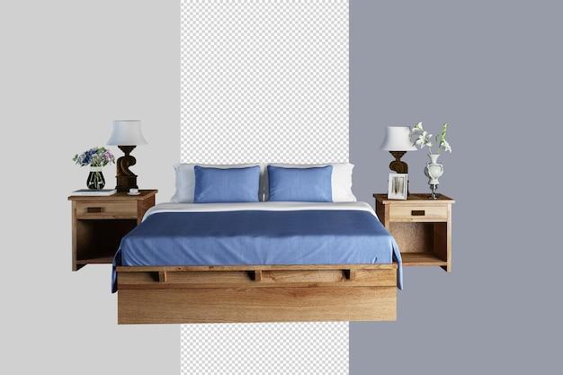 Chambre minimaliste moderne en rendu 3d
