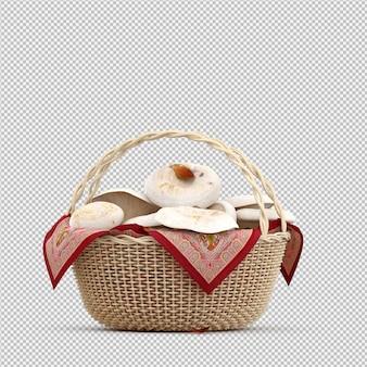 Champignons isométriques dans un panier