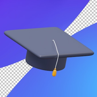 Chapeau d'obtention du diplôme d'étude 3d