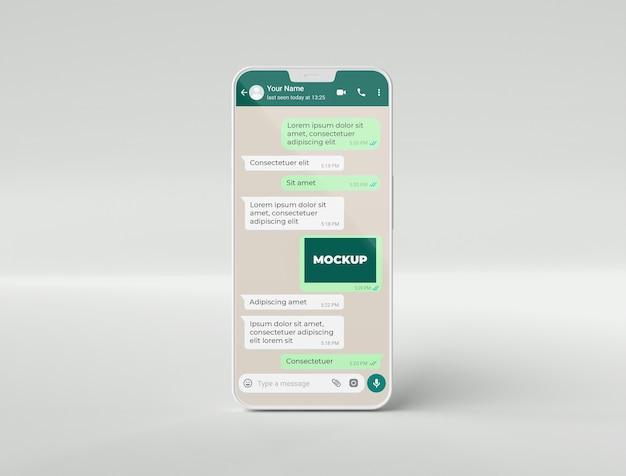 Chat de maquette de téléphone