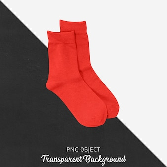 Chaussettes rouges transparentes
