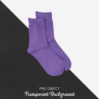 Chaussettes violettes transparentes