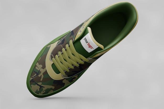 Chaussures colorées se moquent