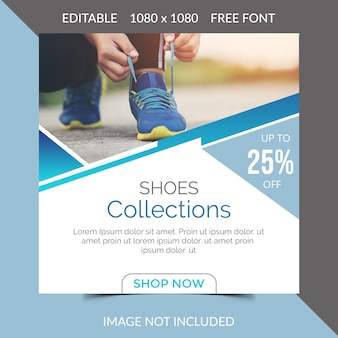 Chaussures social media post design
