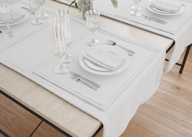 Chemin de table et serviettes