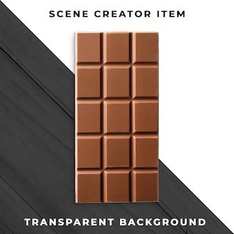 Chocolat transparent psd