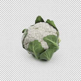 Chou-fleur isométrique