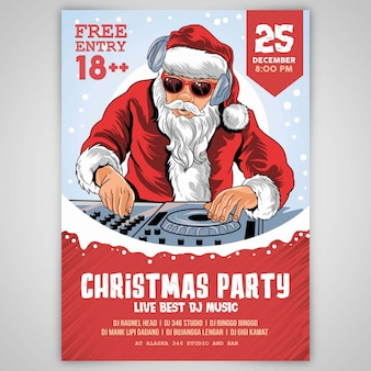 Christmas dj santa claus template