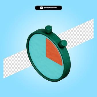 Chronomètre illustration de rendu 3d isolé