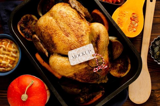 Ci-dessus, une délicieuse dinde de thanksgiving