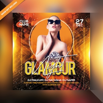 Circulaire glamour night party