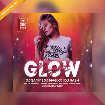 Circulaire glow night party