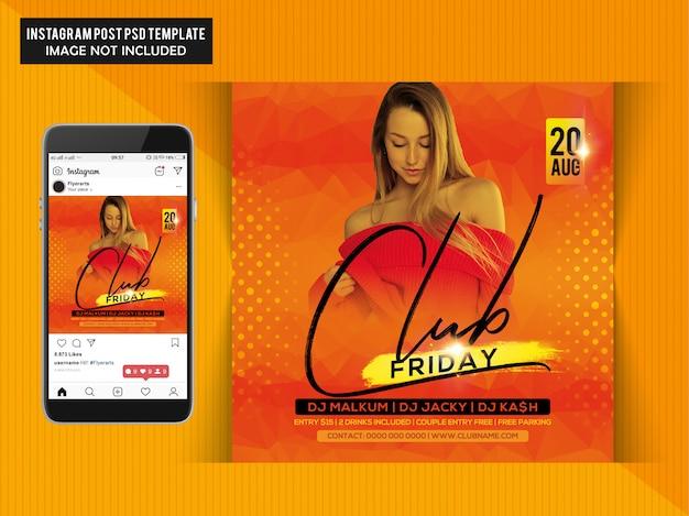 Circulaire Party Club Night PSD Premium