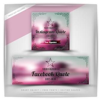 Citations florales d'ornement pour instagram et facebook