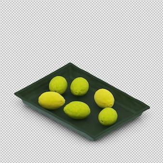 Citrons rendu 3d