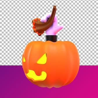 Citrouille d'halloween 3d