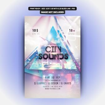 City sounds flyer