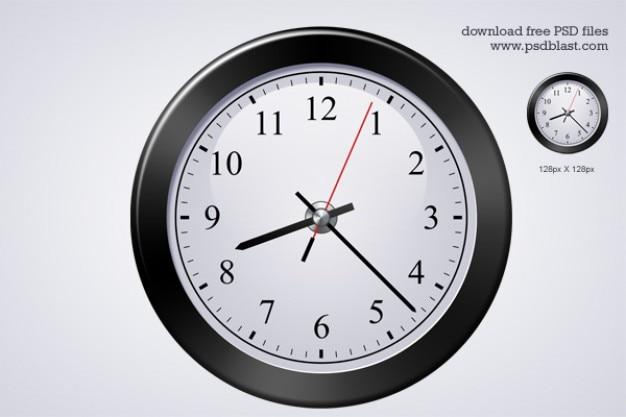 Classique horloge icône psd