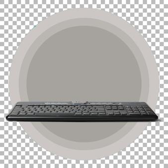 Clavier d'ordinateur moderne isolé sur fond transparent