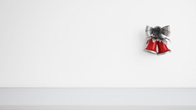 Cloches de noël avec ruban décoratif