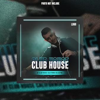 Club dj party flyer publication sur les réseaux sociaux bannière web premium psd
