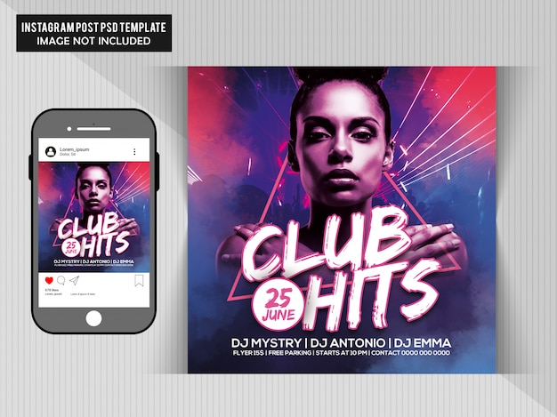 Club hits party flyer