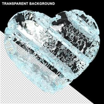 Coeur congelé fait de glace