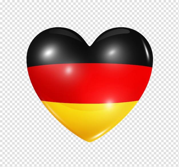 Coeur avec le drapeau de l'allemagne