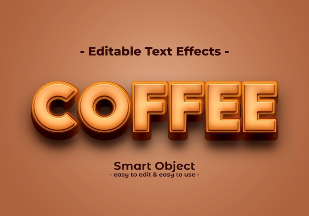 Coffee-text-style-effet