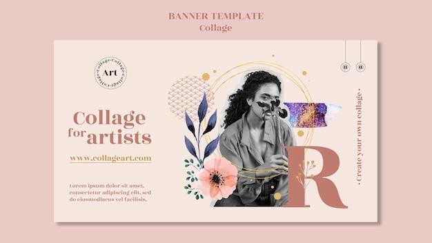 Collage pour modèle de bannière d'artistes