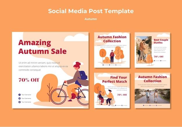 Collection d'automne sur les médias sociaux