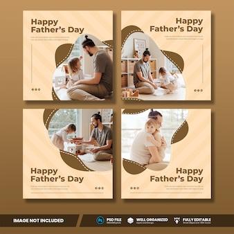 Collection de bannières de médias sociaux pour la fête des pères