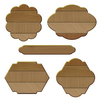 Collection de cadres en bois