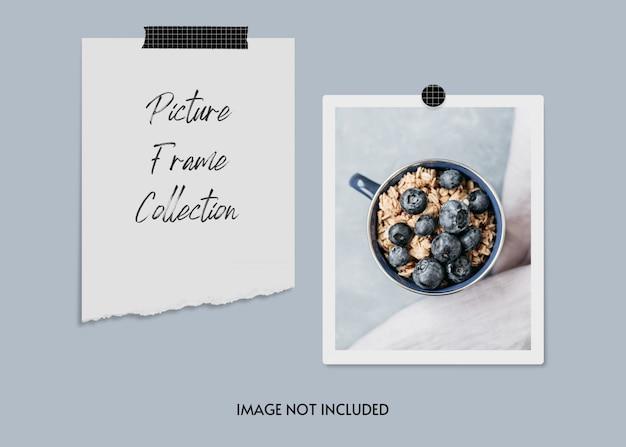 Collection de cadres photo