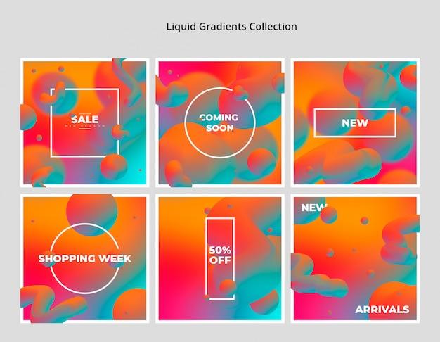 Collection de dégradés liquides