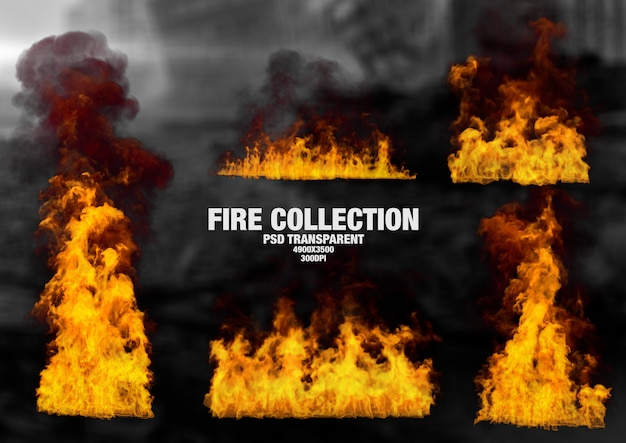 Collection de flammes