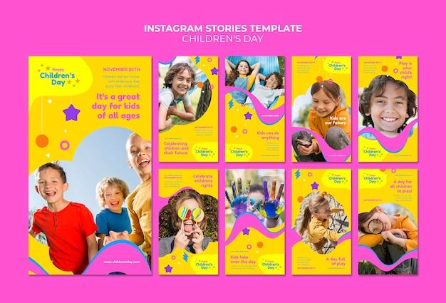 Collection d'histoires amusantes et colorées pour la journée des enfants